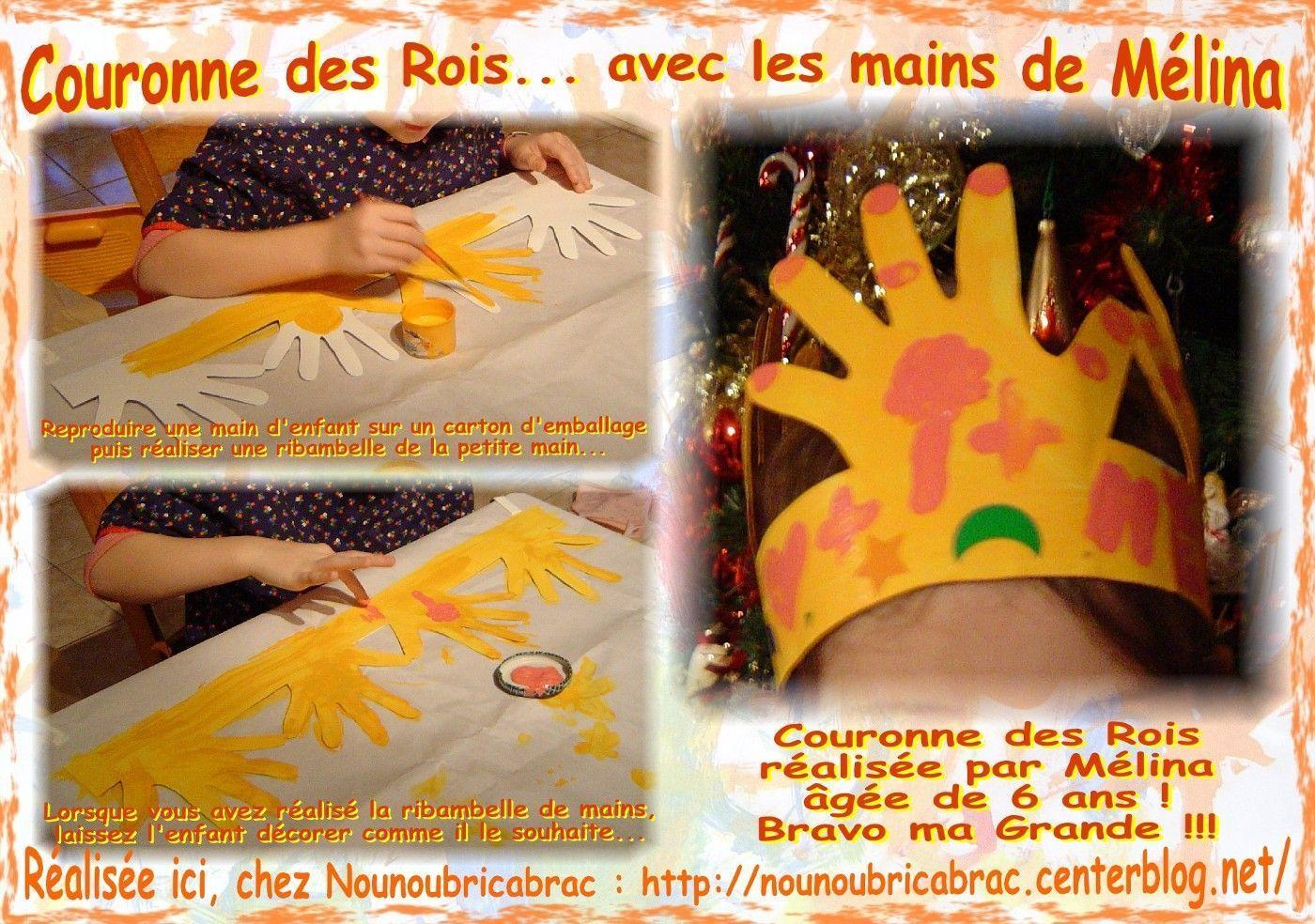 Couronne des Rois… avec des mains d'enfants / 2ème étape..... couronne de Mélina