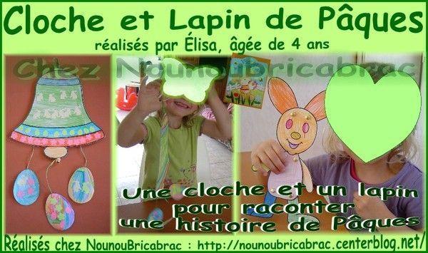 Cloche et Lapin de Pâques réalisés par Élisa
