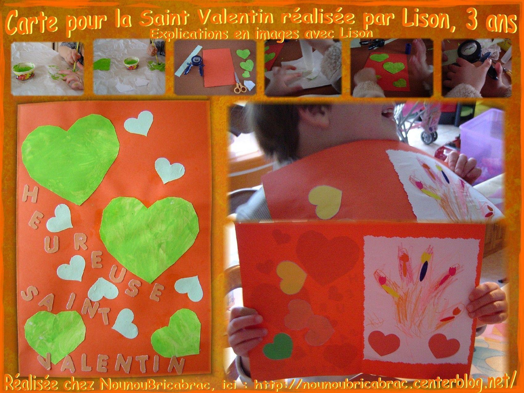 Carte pour la Fête de la Saint Valentin, réalisée et expliquée par Lison