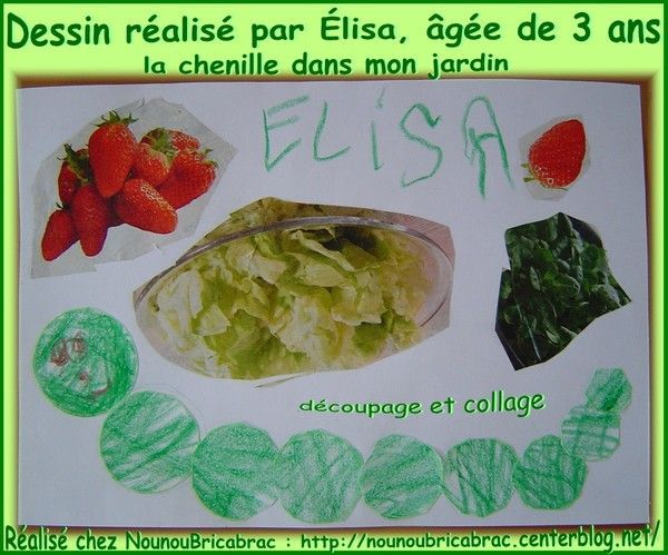 Chenille... dessin réalisé par Élisa, âgée de 3 ans