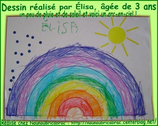 Arc-en-Ciel... dessin d'Élisa, âgée de 3 ans