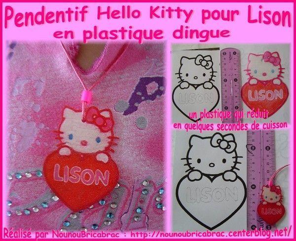 Pendentif Hello Kitty pour Lison...