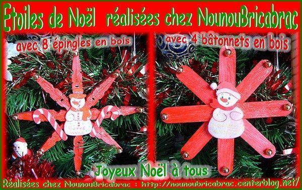 Étoile de Noël chez Nounoubricabrac...