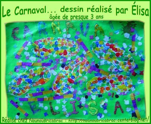 Carnaval... un dessin réalisé par Élisa, presque 3 ans