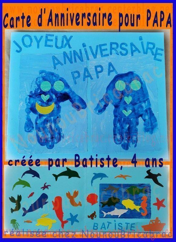 Carte d'anniversaire pour Papa - Batiste