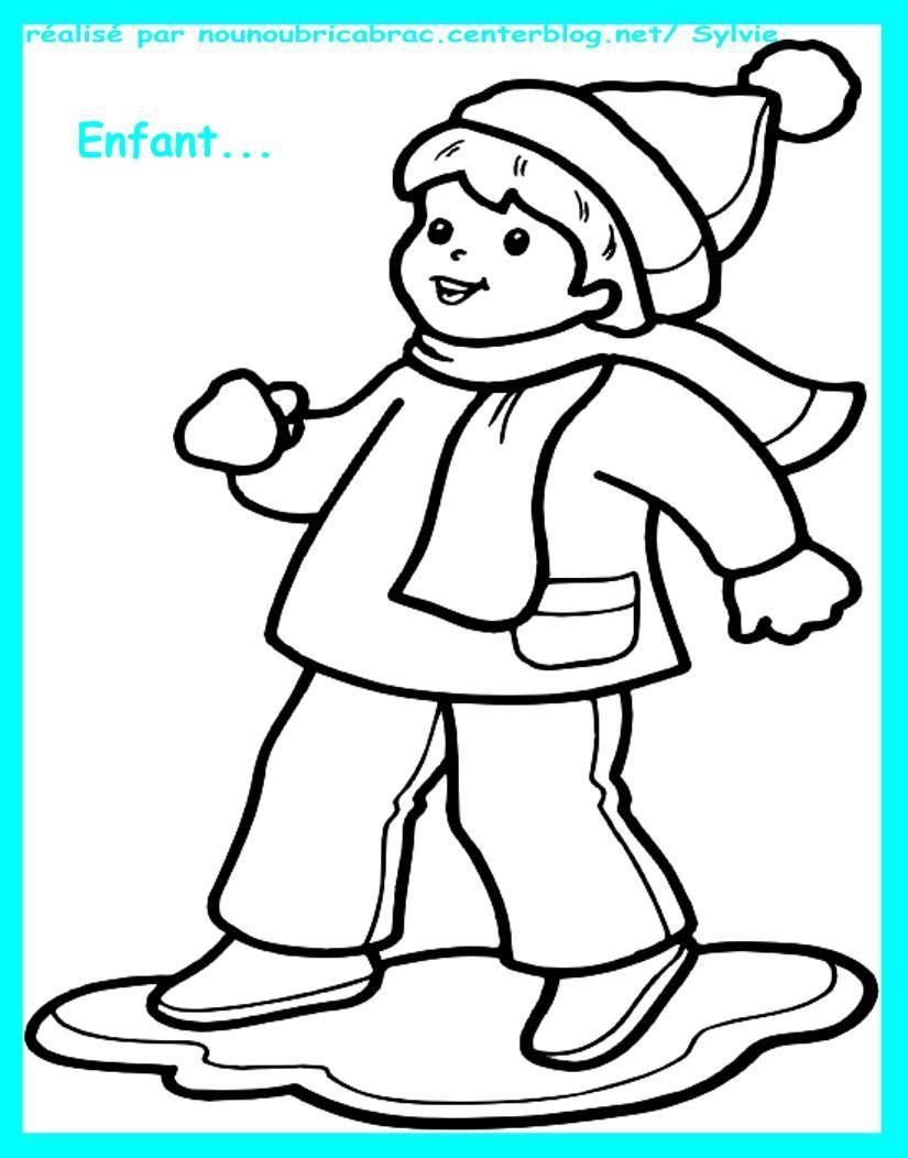 Coloriages hiver noel nouvel an page 2 - Dessiner un paysage d hiver ...