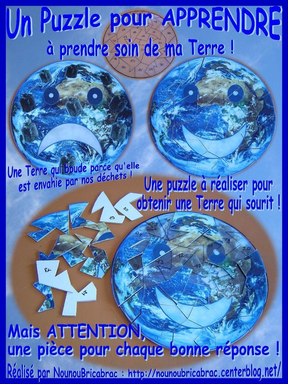 Puzzle pour apprendre à prendre soin de ma Terre