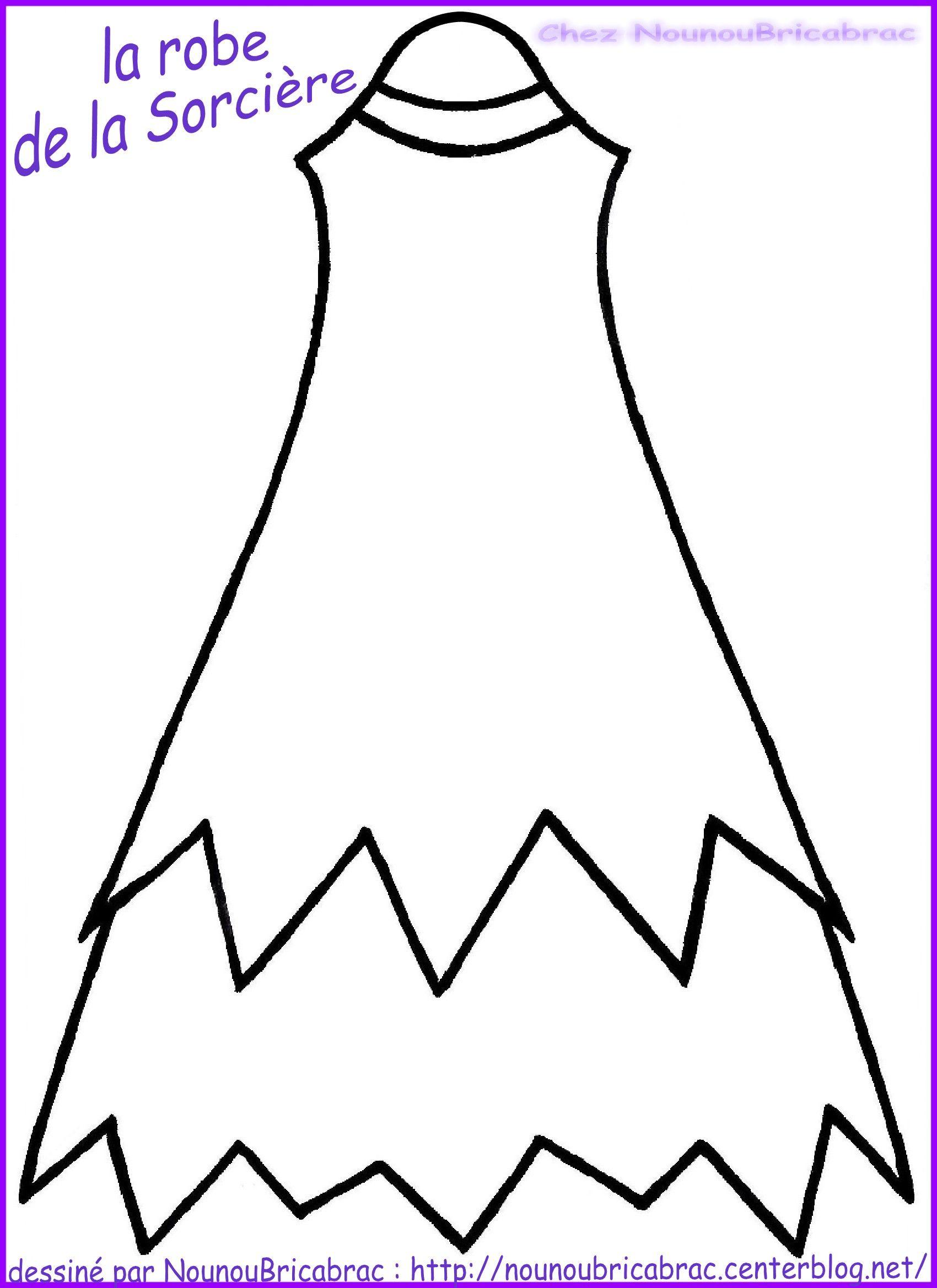 Marionnette : Sorcière d'Halloween... La Robe réalisée par Nounoubricabrac