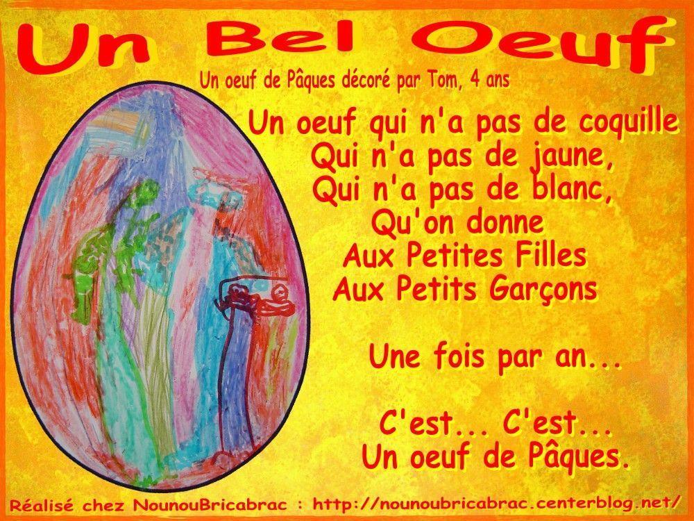 Un bel Oeuf... poésie pour Pâques