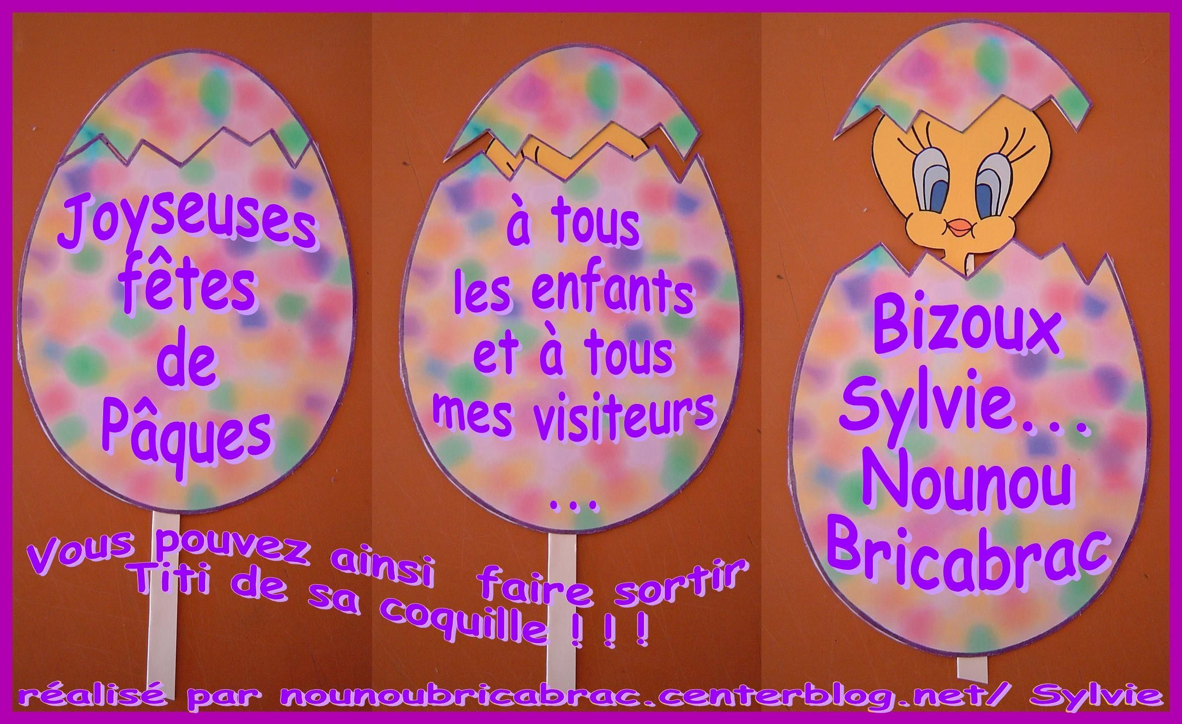 Carte Surprise *2* Oeuf de Pâques avec Titi !!!