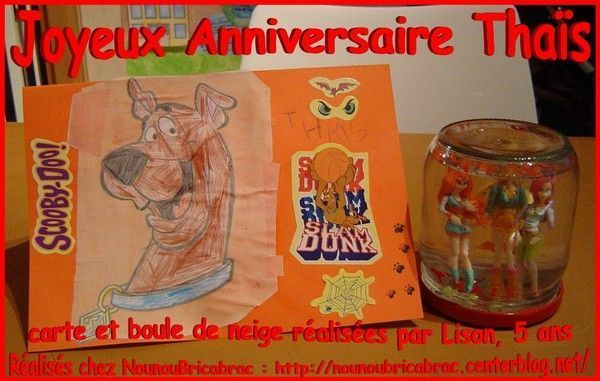Joyeux Anniversaire Thas... cadeaux raliss par Lison