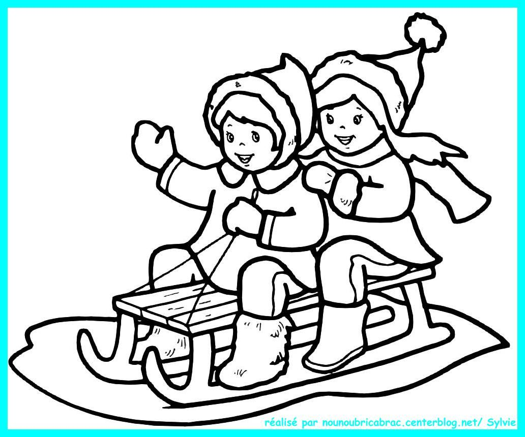 Coloriages hiver noel nouvel an page 2 - Dessin sur l hiver ...