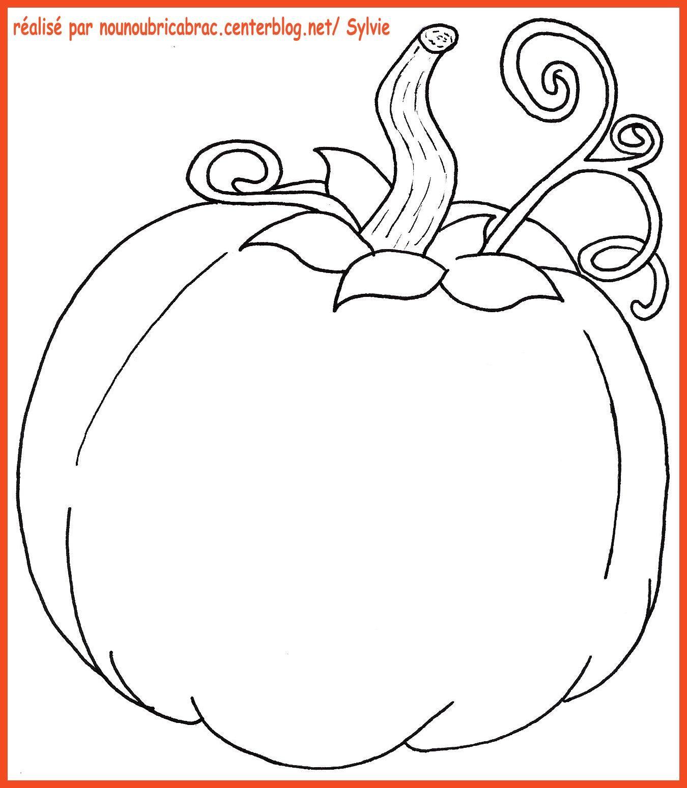 Citrouille colorier ou d corer citrouille coloriage - Citrouille coloriage ...