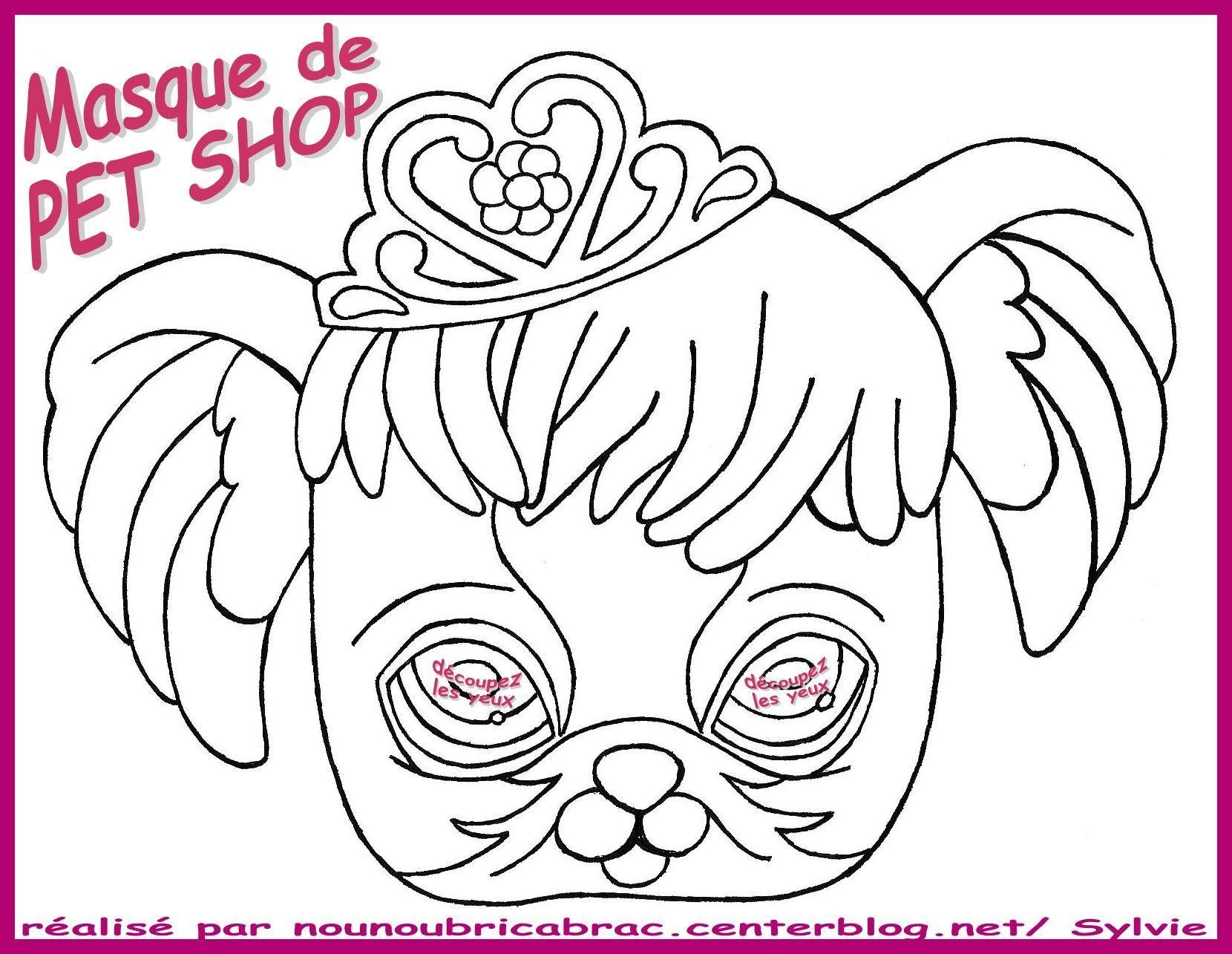 Pet Shop Masque A Colorier Et A Decouper