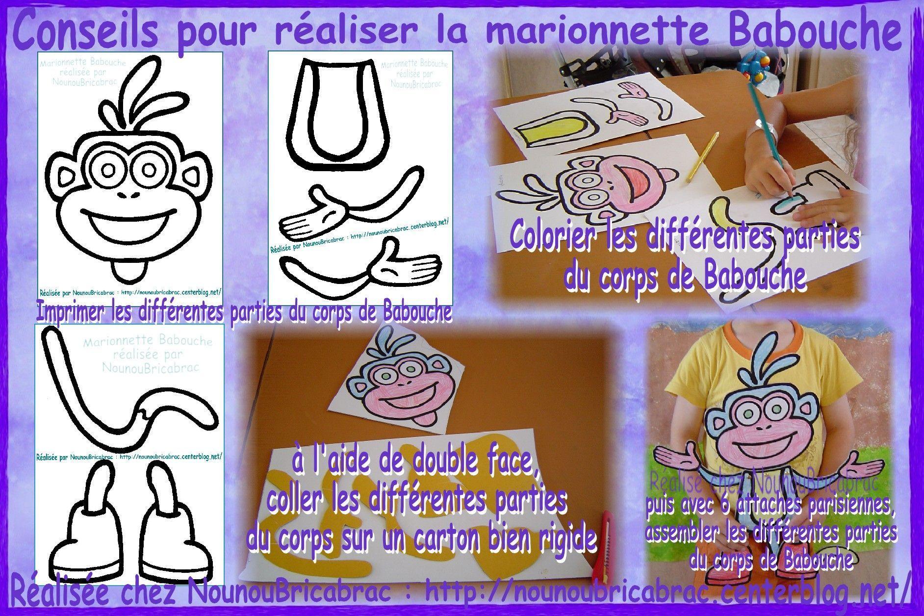 Marionnette Babouche... conseils pour réaliser la marionnette