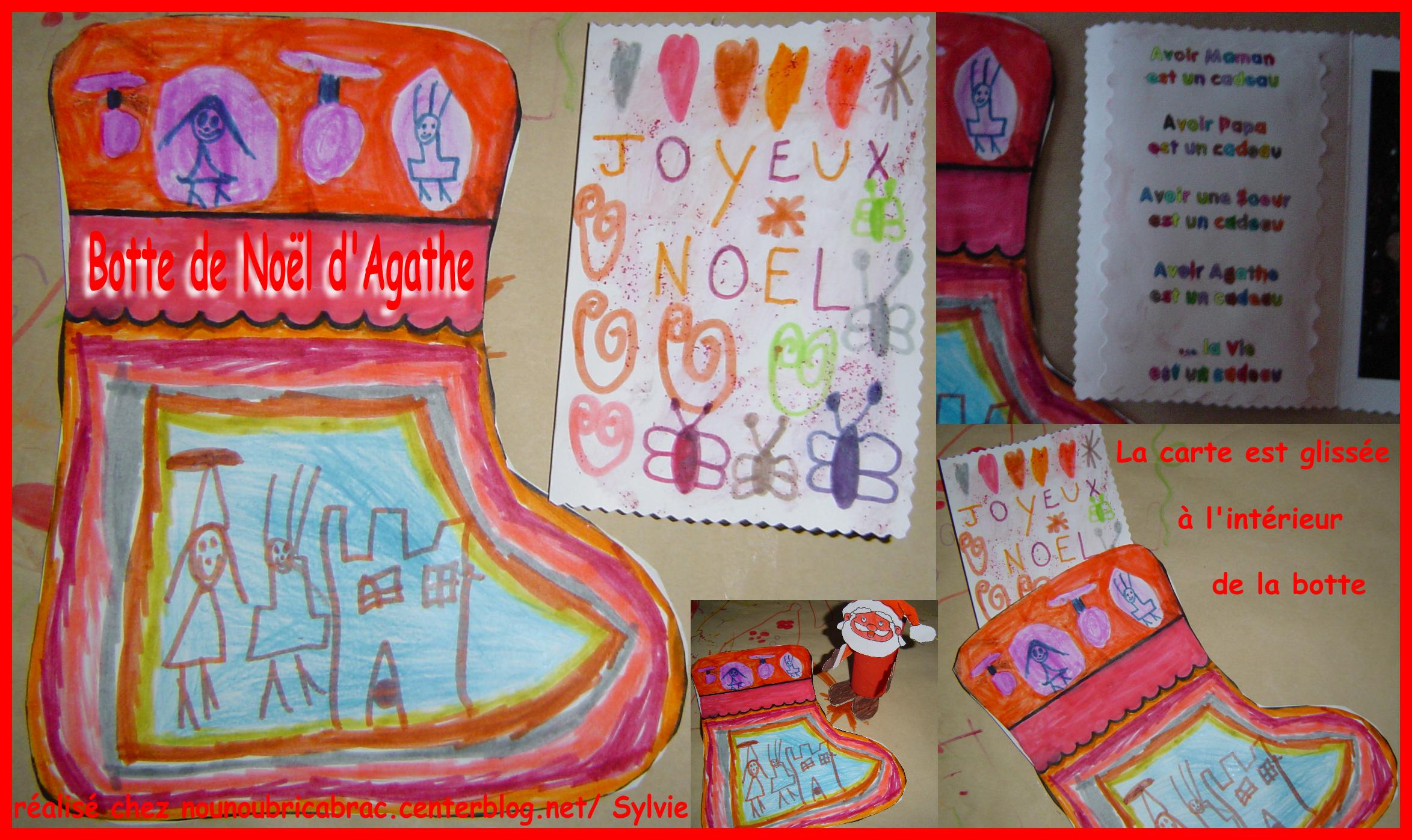 Botte de Nol ralise par Agathe, 5 ans 1/2