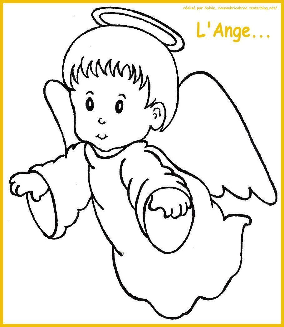 L'Ange tourné vers la gauche... à colorier
