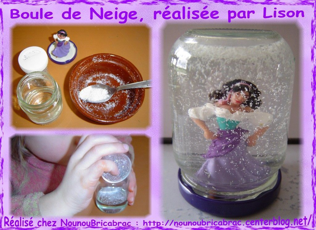 Boule de neige ralise par Lison