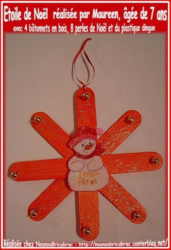 Étoile de Noël en bâtonnets et plastique dingue de Maureen
