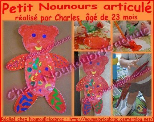 Petit Nounours articulé... réalisé par Charles, 23 mois