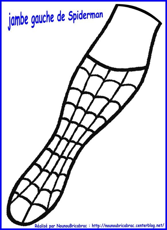 Marionnette Spiderman : sa jambe gauche