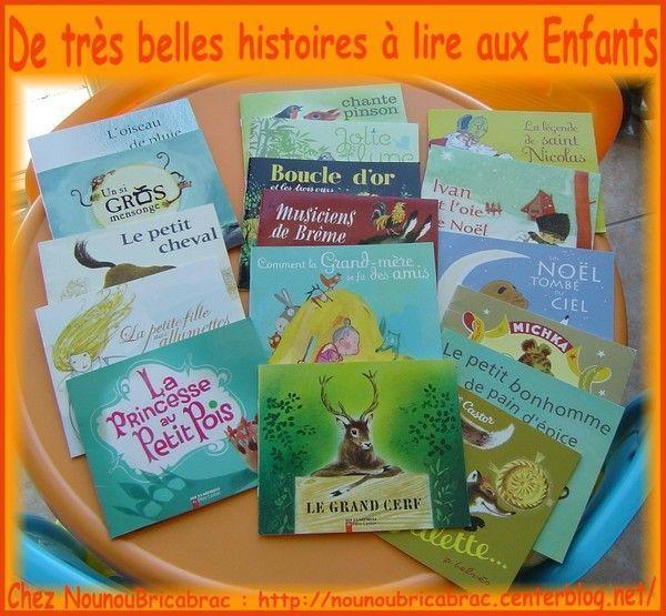 De très belles histoires à lire aux enfants...