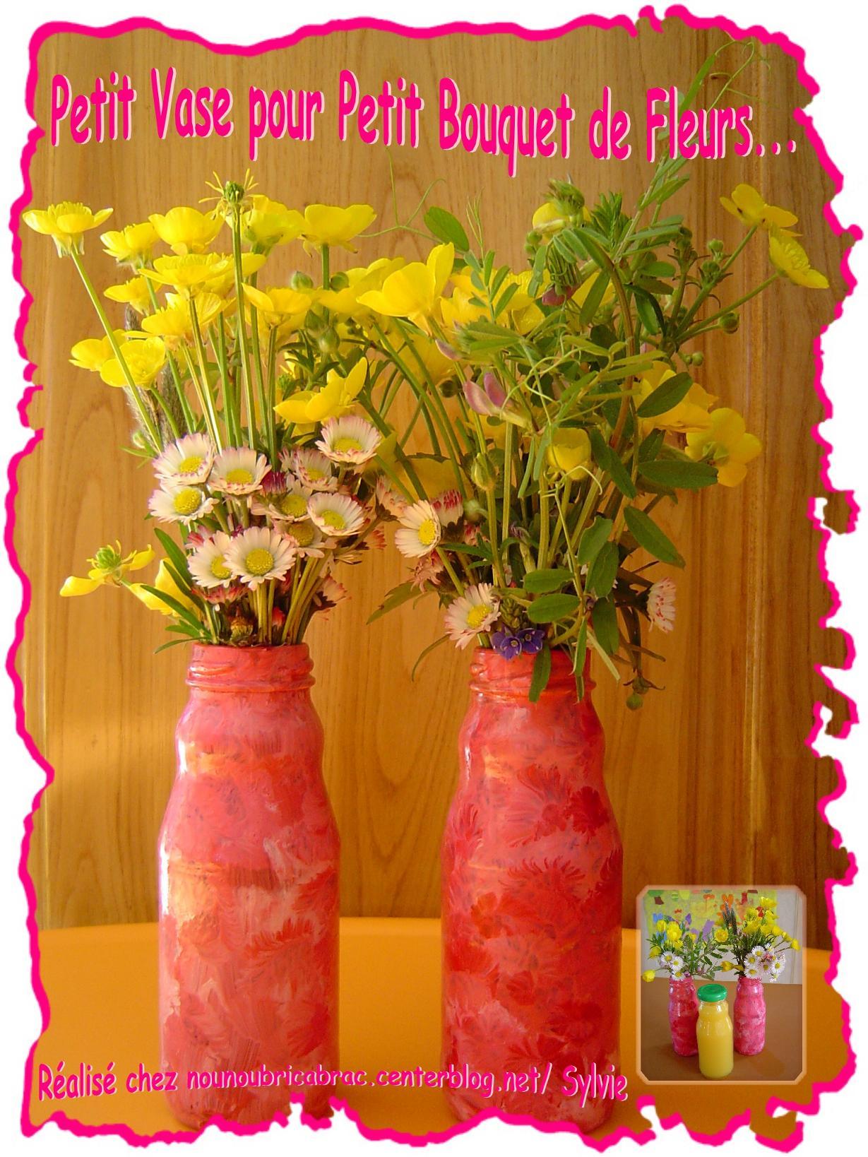 Idée de Vase pour mettre les ptits bouquets... des enfants !!!