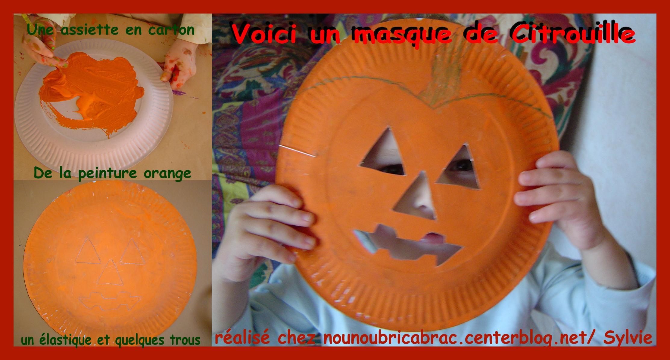 Bricolages pour halloween page 5 - Tete de citrouille pour halloween ...
