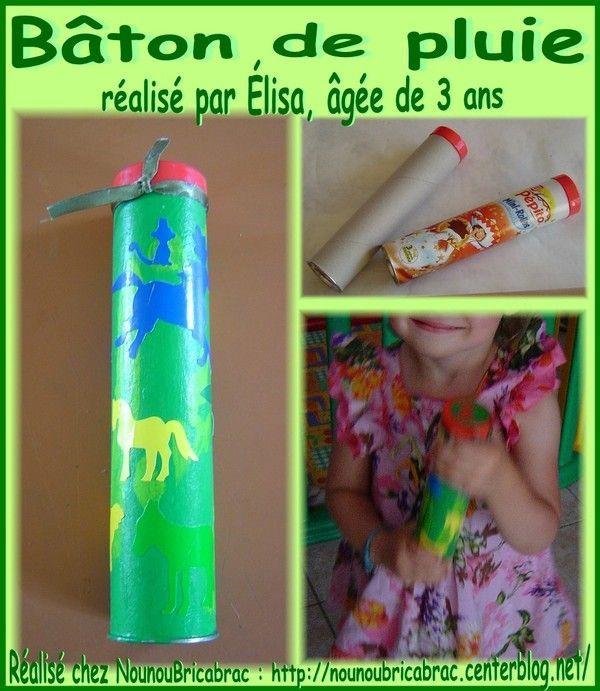 Bâton de pluie *2* réalisé par Élisa, âgée de 3 ans