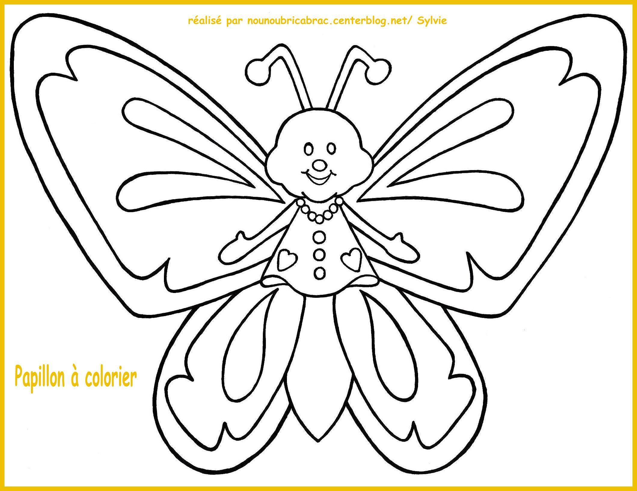 Inspirant Dessin à Colorier à Imprimer Papillon