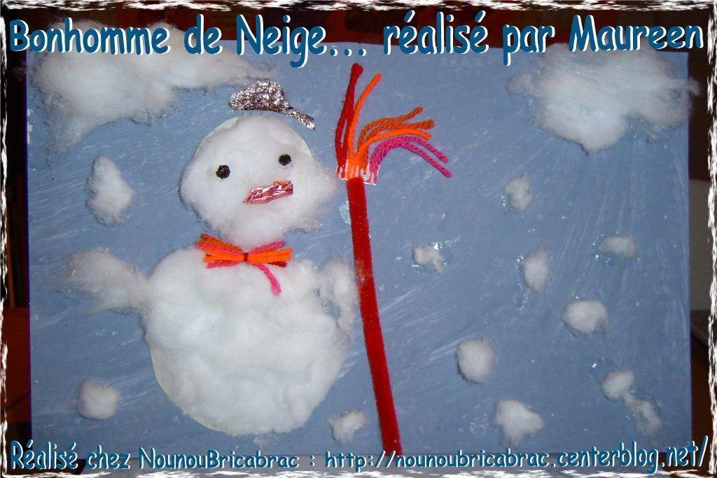 Bonhomme de Neige réalisé par Maureen