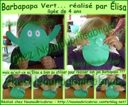 Barbapapa Vert... ralis par lisa, 4 ans