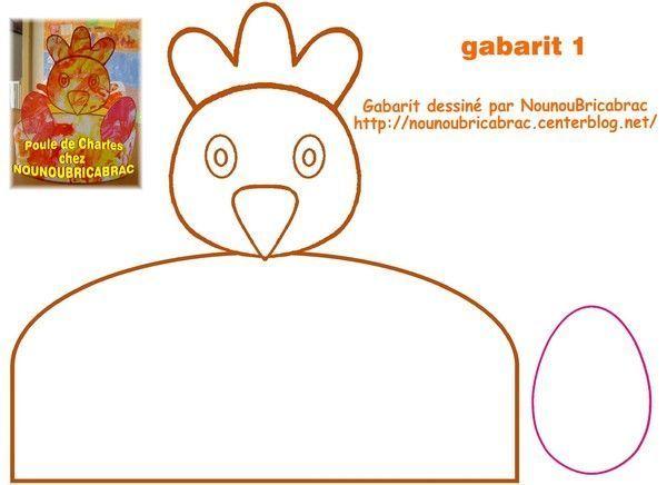 Panier Poule De Pâques 3 Gabarit 1