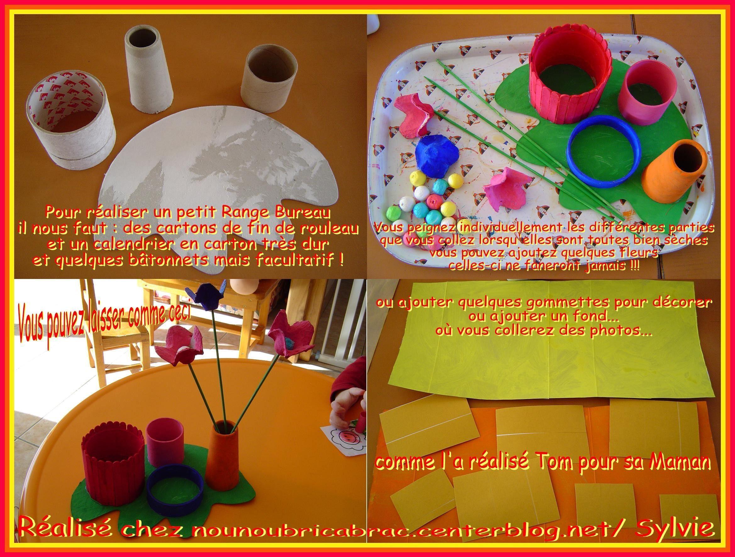 Range Bureau... une idée cadeau réalisé par Tom, 3 ans...