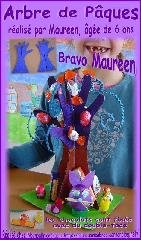 Arbre de Pâques réalisé par Maureen, âgée de 6 ans