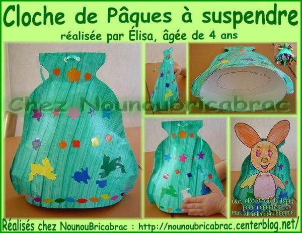 Cloche de Pâques à suspendre réalisée par Élisa