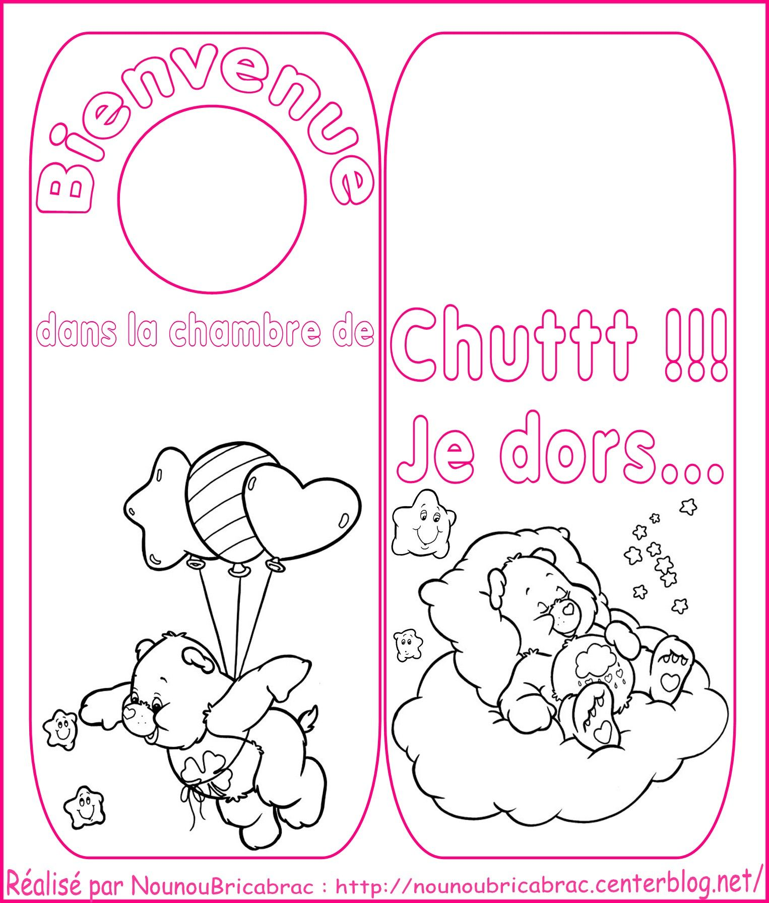 Signet de porte *Bisounours* pour chambre de ...
