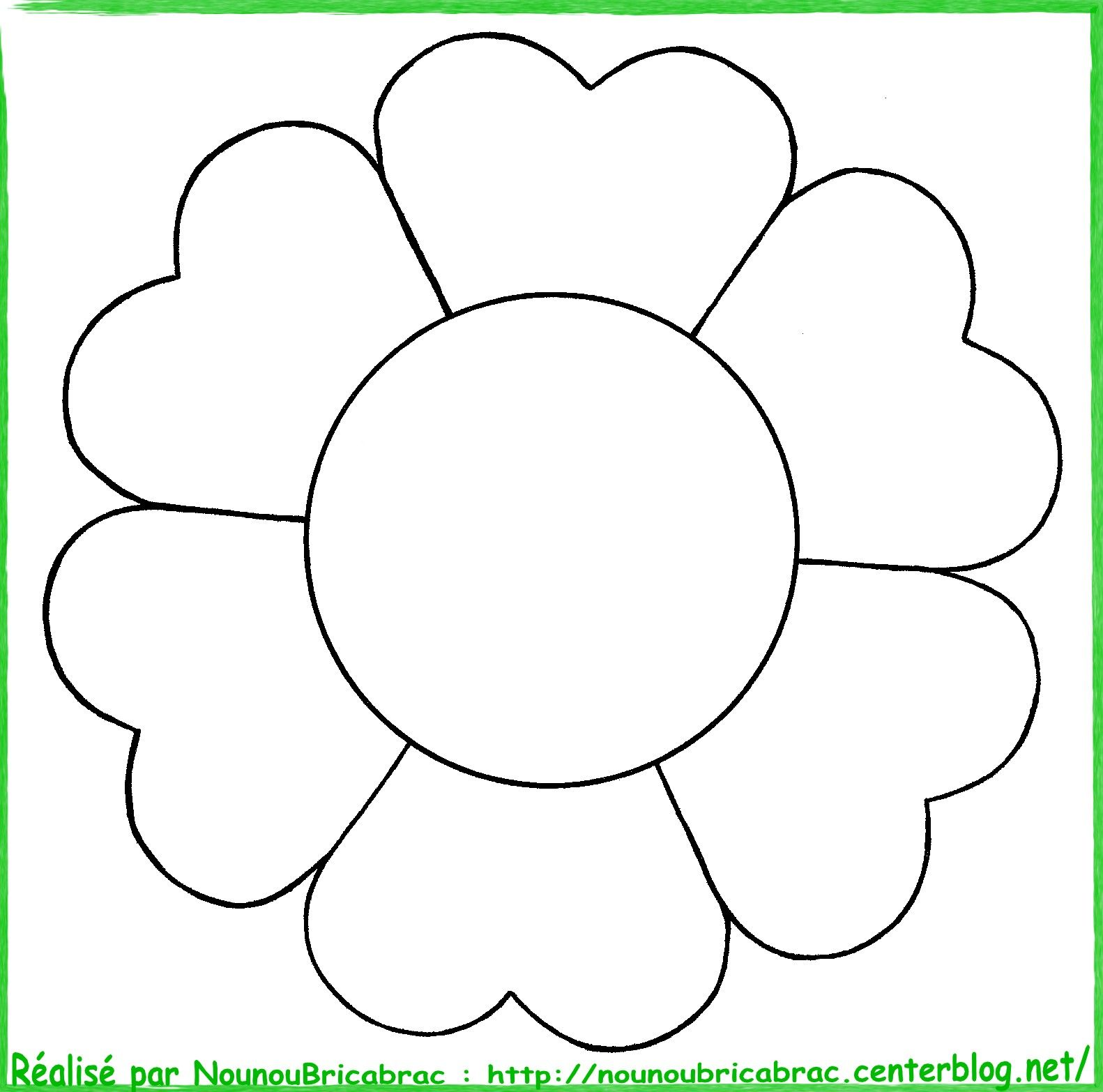 Coloriages nature - Photo de fleur a dessiner ...