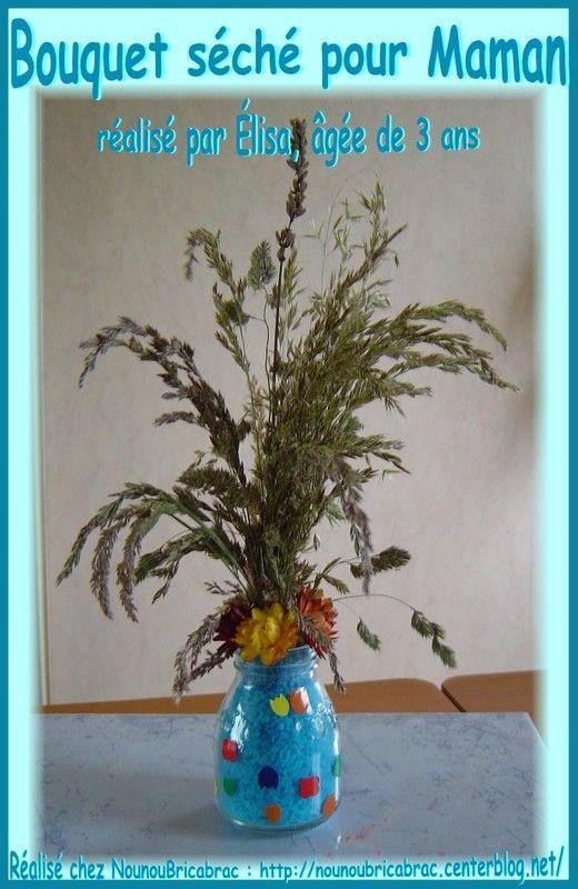 Bouquet d'herbes séchées... réalisé par Élisa