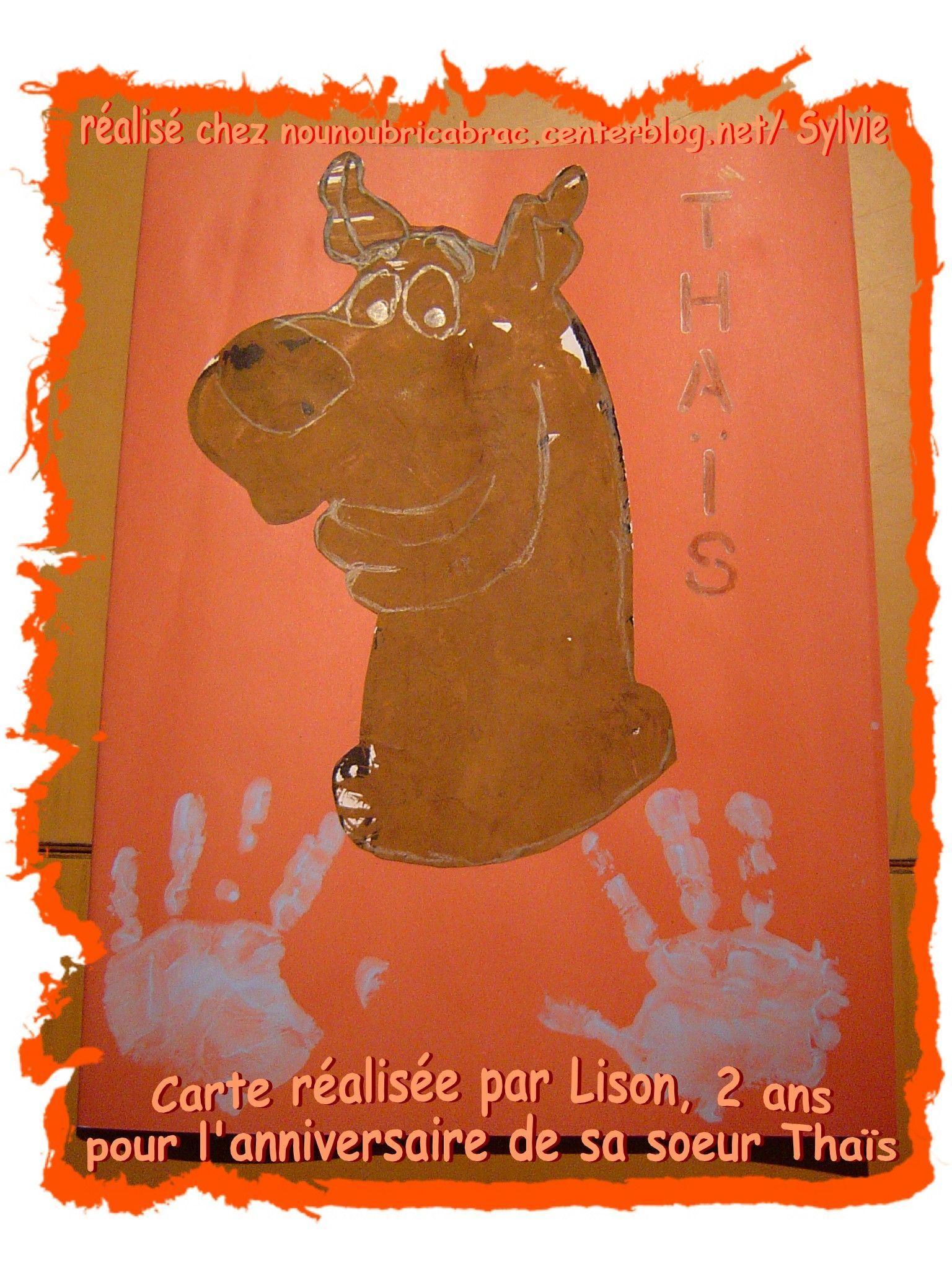 Carte réalisée par Lison, 2 ans