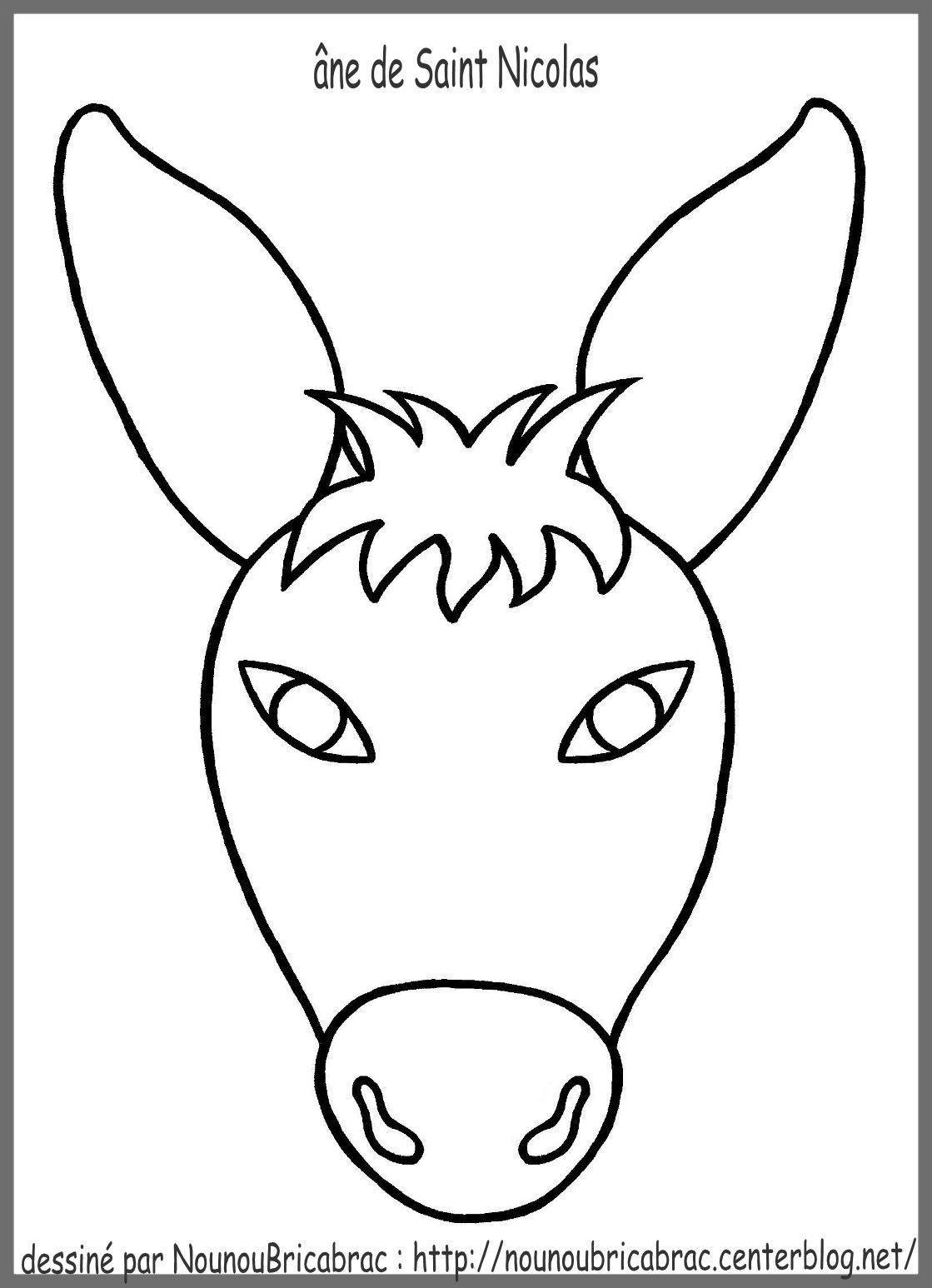 Tête D Un âne Pour Fabriquer L âne De Saint Nicolas
