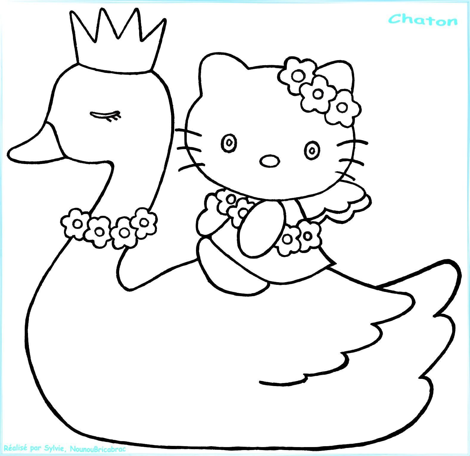 Coloriages animaux - Coloriage cygne ...