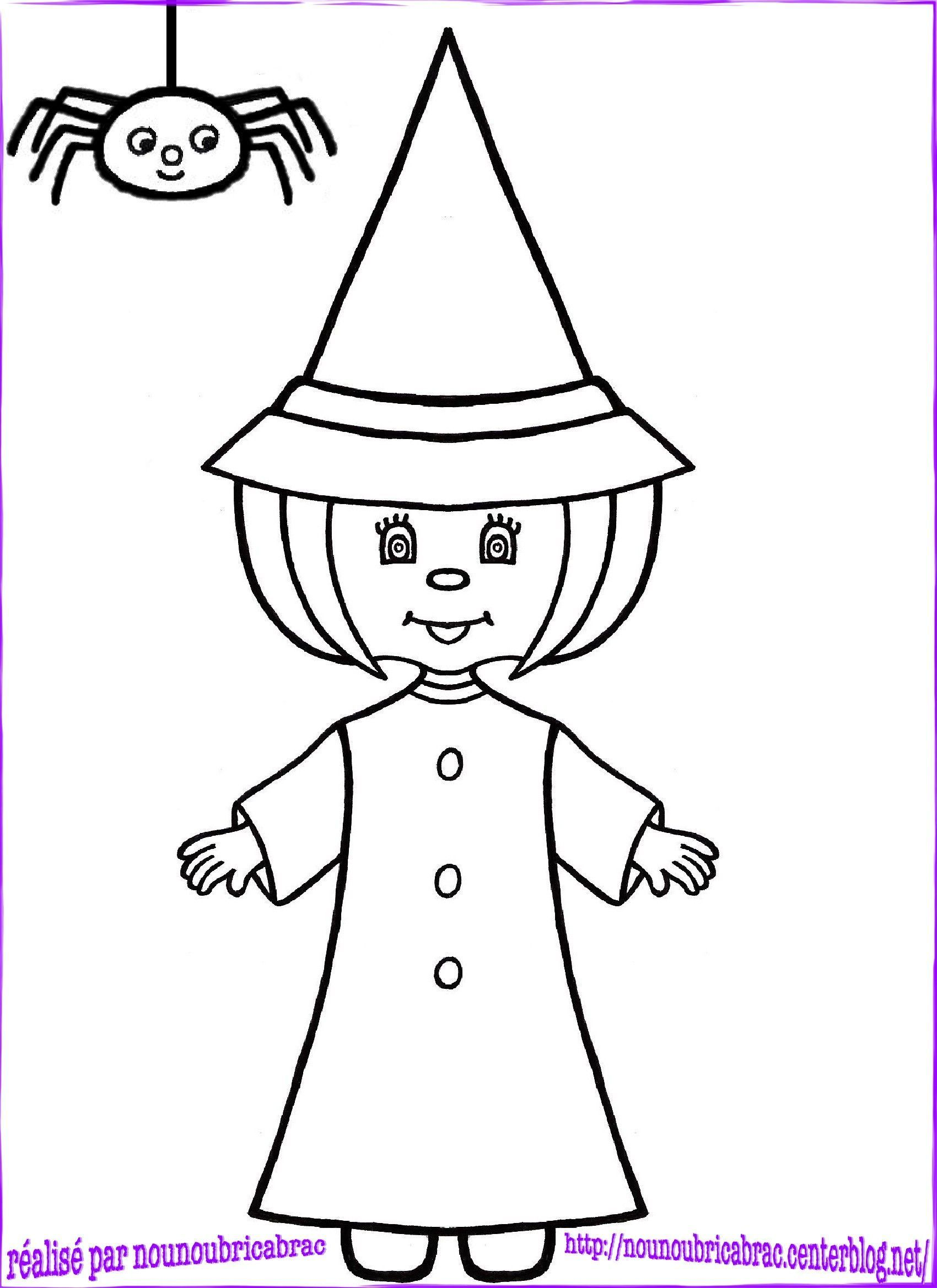 Coloriages halloween page 2 - Coloriage sorciere ...