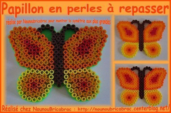 Papillon *1* en perles à repasser... modèle