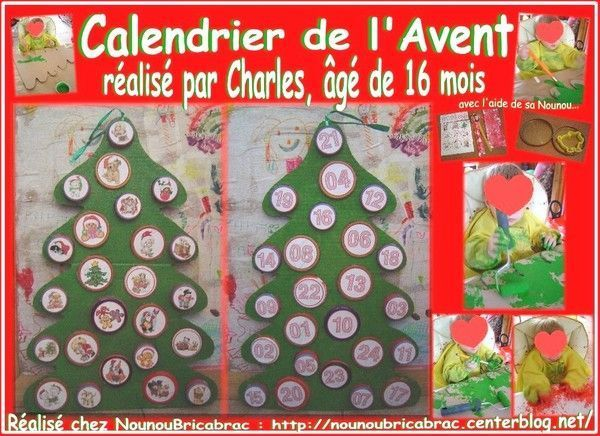 bricolages pour noel calendriers de l avent. Black Bedroom Furniture Sets. Home Design Ideas