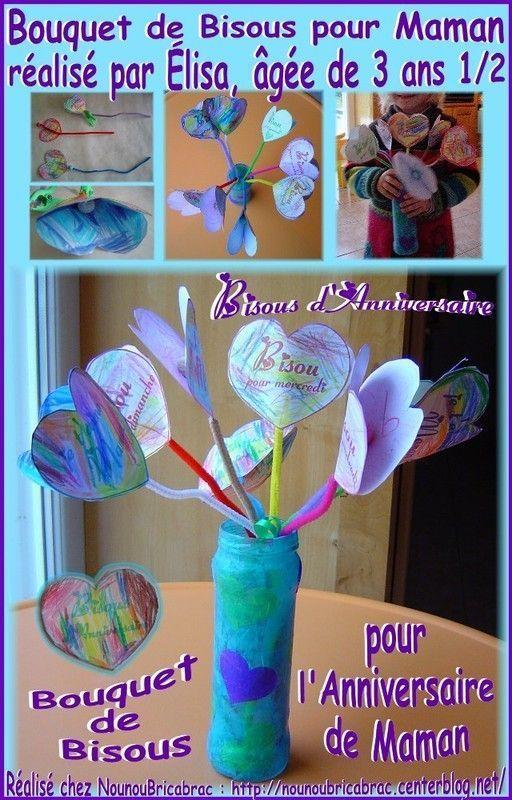 Bouquet de Bisous pour Maman... réalisé par Élisa