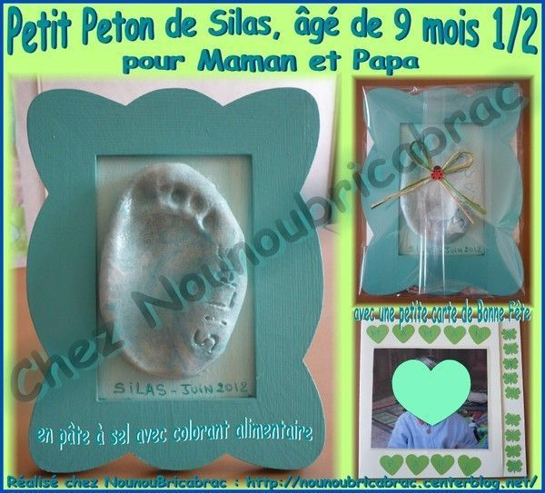 Petit Peton de Silas pour la fte de Maman et de Papa