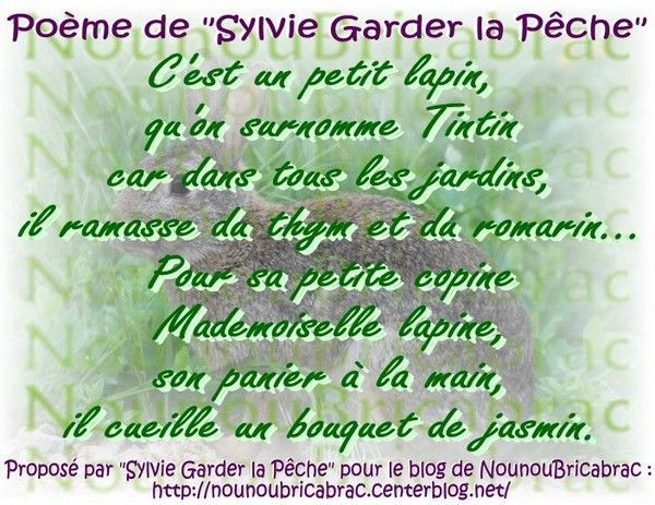 Pome de Pques de Sylvie &quot;Garder la pche&quot;