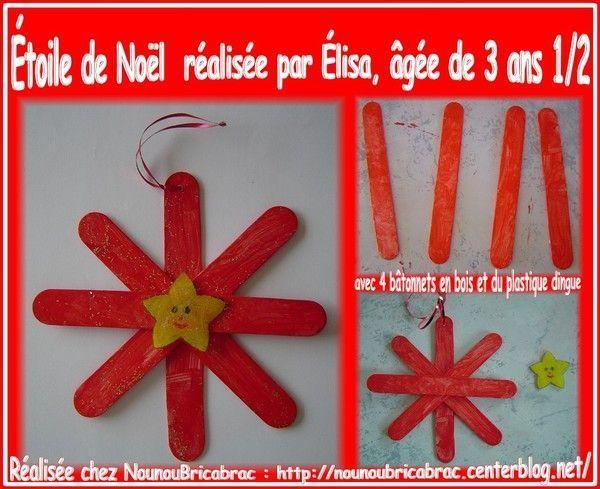 Étoile de Noël en bâtonnets et plastique dingue d'Élisa