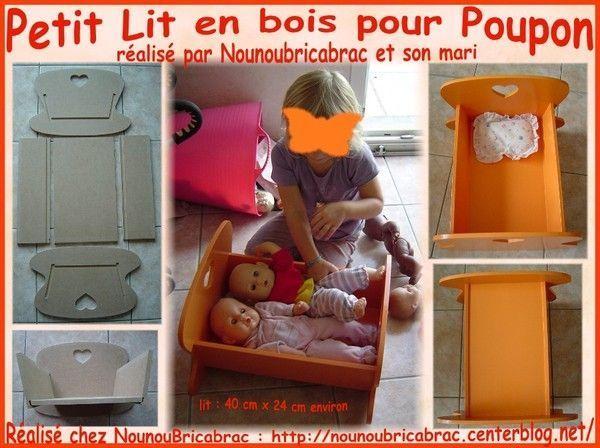 Petit Lit en bois pour Poupon  fabriquer un lit en  ~ Lit Pour Poupon En Bois